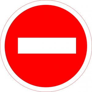 проезд запрещён