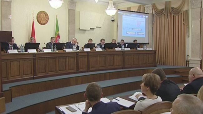 заседание облисполкома