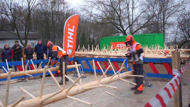 sorevnovanie lesnikov 650x366 - Первый международный лесной фестиваль в Полоцке (видео)