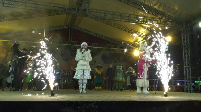 jolka 650x365 - В Витебске зажгли главную новогоднюю ёлку области (видео)