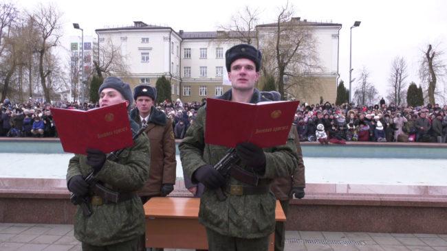 prisjaga 650x366 - Витебские десантники приняли присягу (видео)