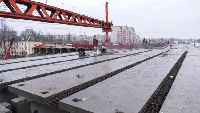 puteprovod 650x366 - Тёплая зима благоприятствует строительству Полоцкого путепровода в Витебске (видео)