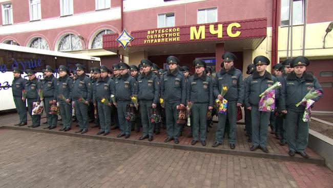 mchs 1 650x366 - Витебские спасатели поздравили женщин-ветеранов с 8 Марта (видео)