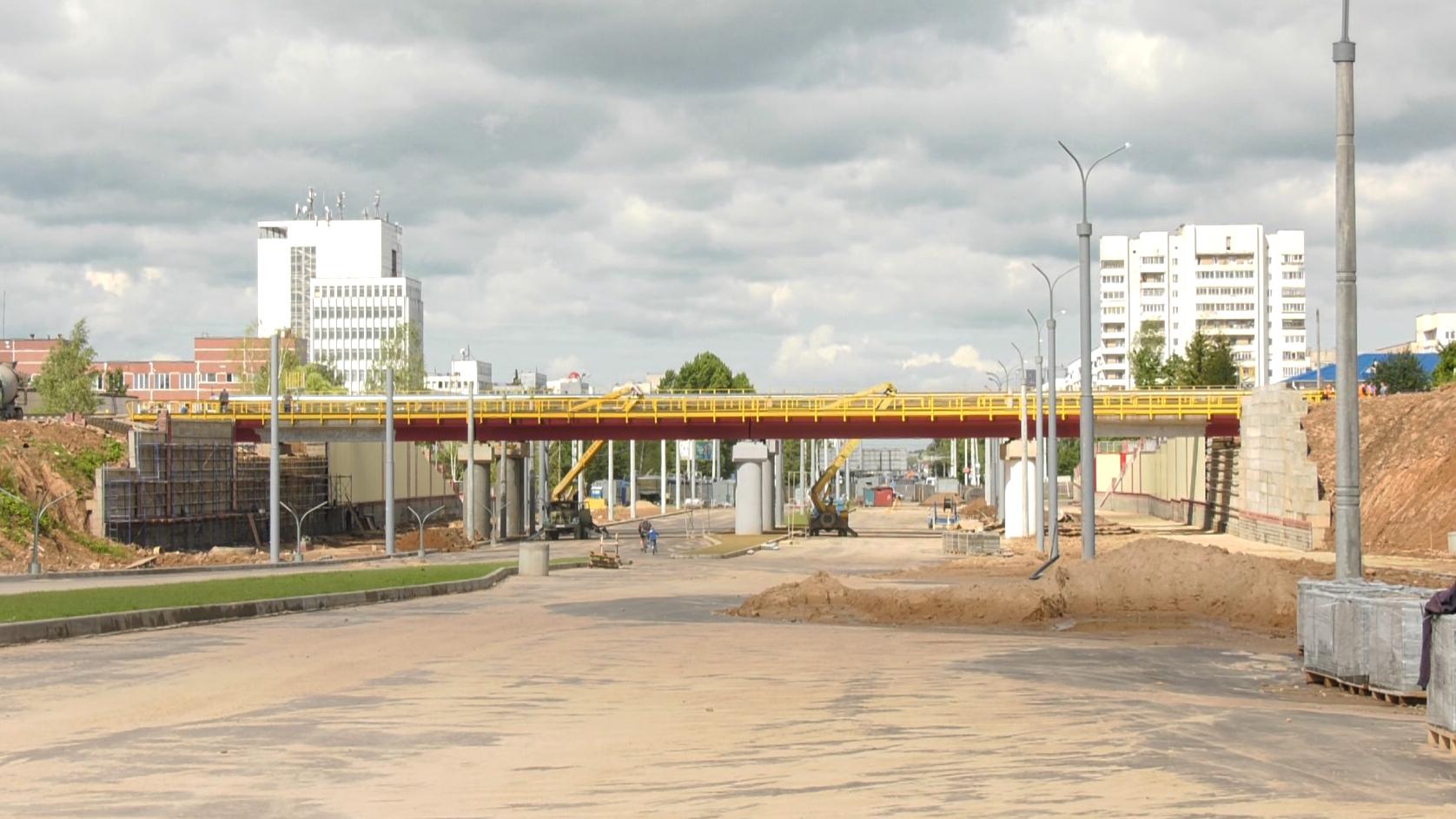 doroga - Строительство дороги в микрорайон Билево завершается в Витебске (видео)