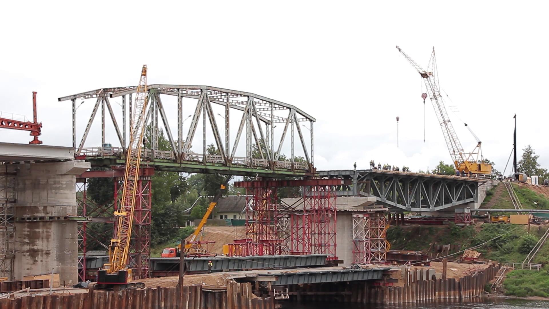 most v polocke - Реконструкция моста через Двину завершается в Полоцке (видео)