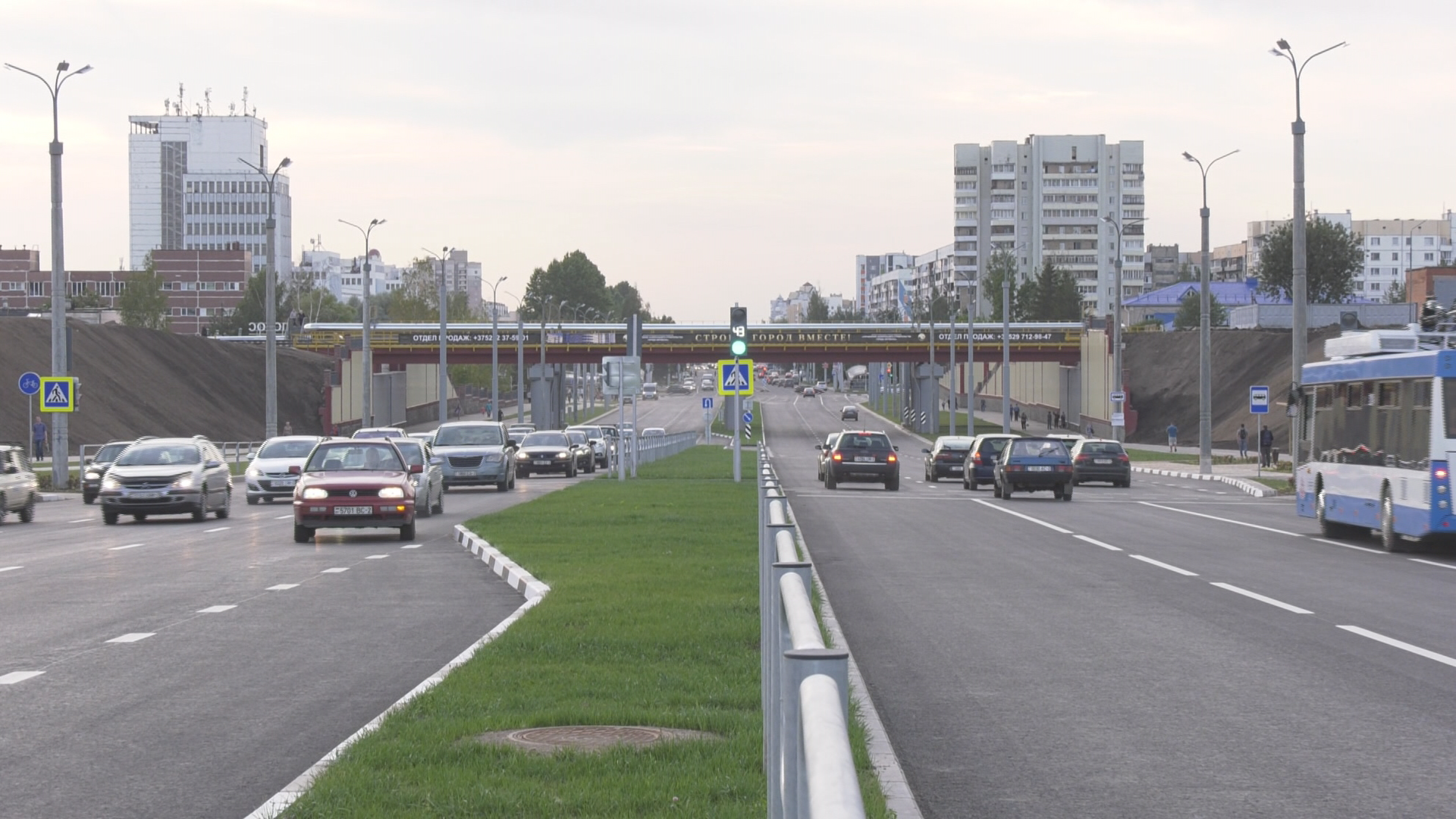 doroga v bilevo - В Витебске открыли движение по новой дороге в Билево (видео)