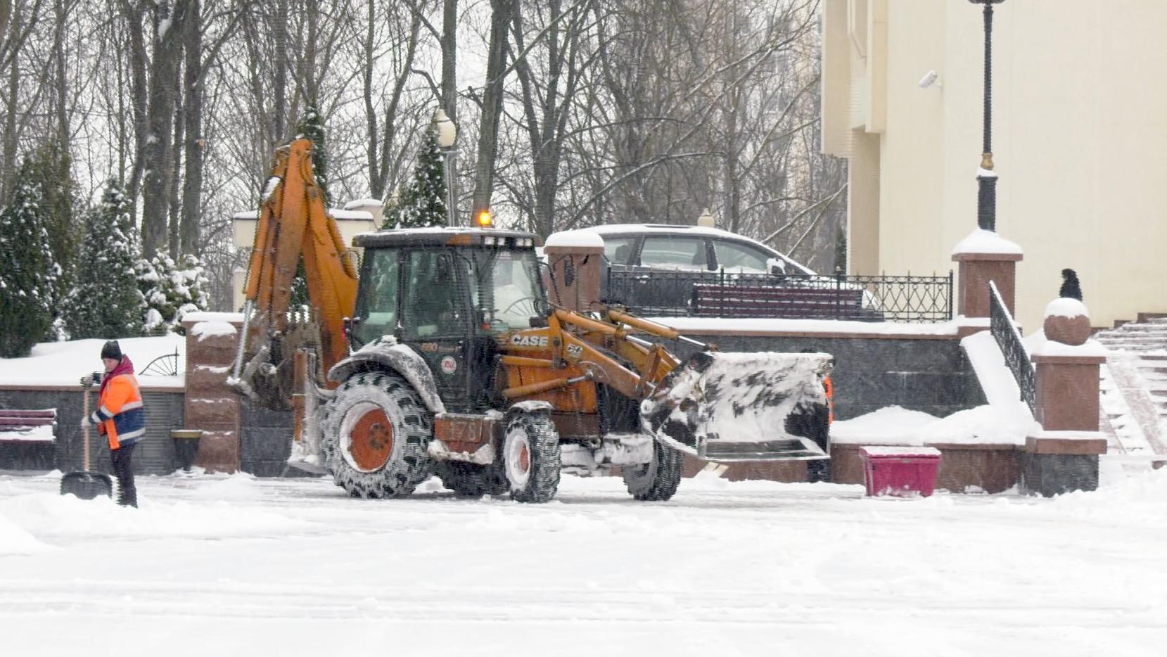 sneg - Снегопад и оттепель. В Витебске снова экстремальная погода (видео)