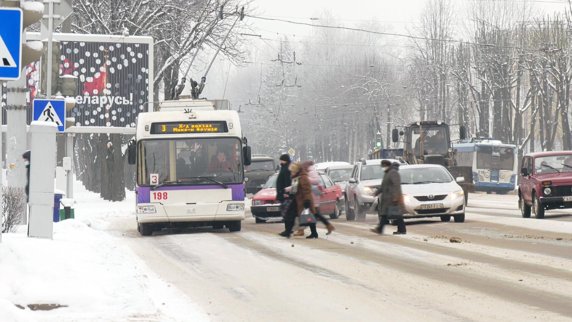 trollejbusy - Как в Витебске зимой работают троллейбусы? (видео)