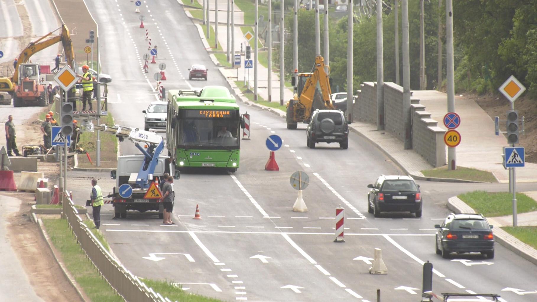gagarina - В Витебске завершается реконструкция улицы Гагарина (видео)